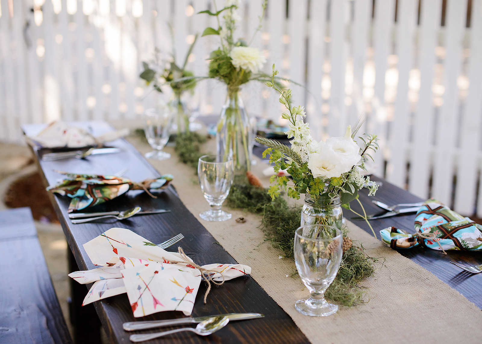 Summer Camp Rustic Table Setting