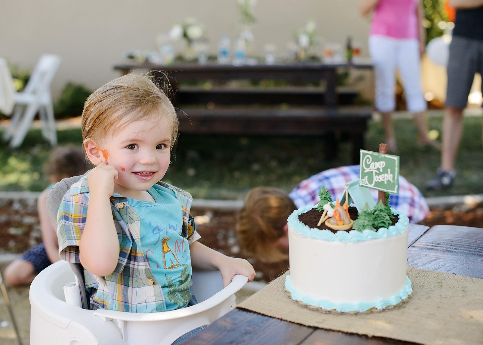 Summer Camp Birthday Cake