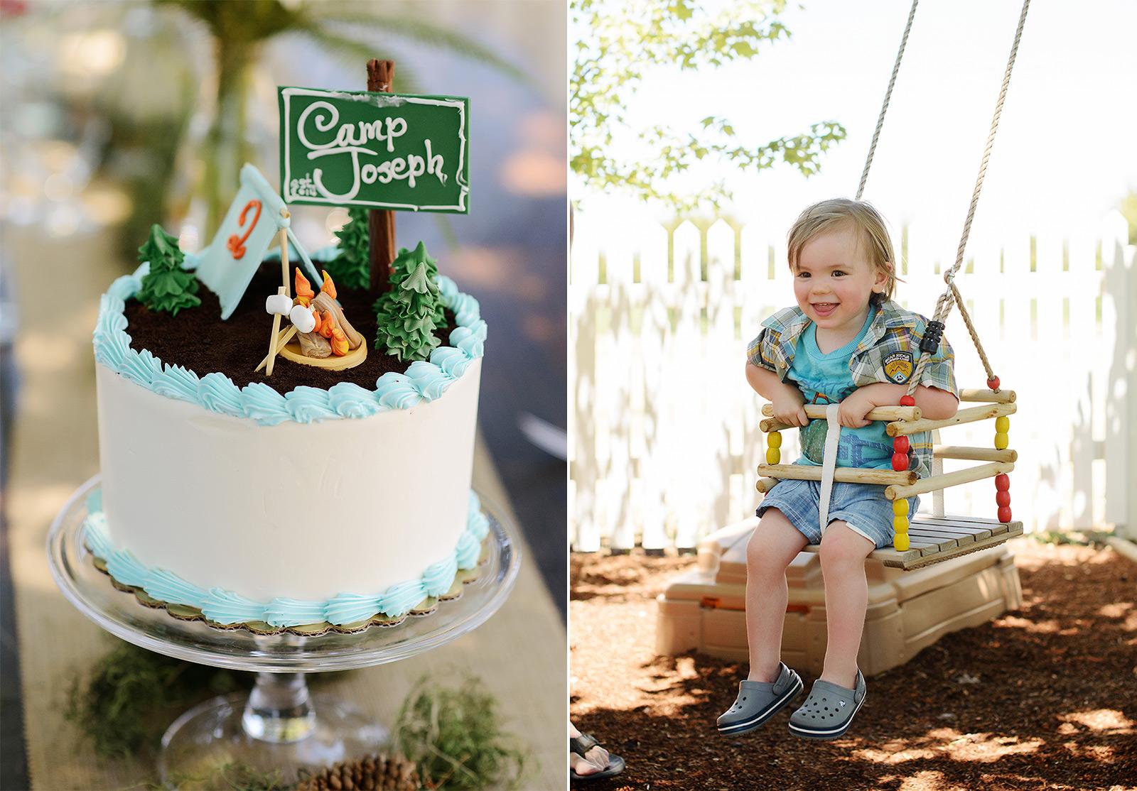 Summer Camp Birthday Cake Detail