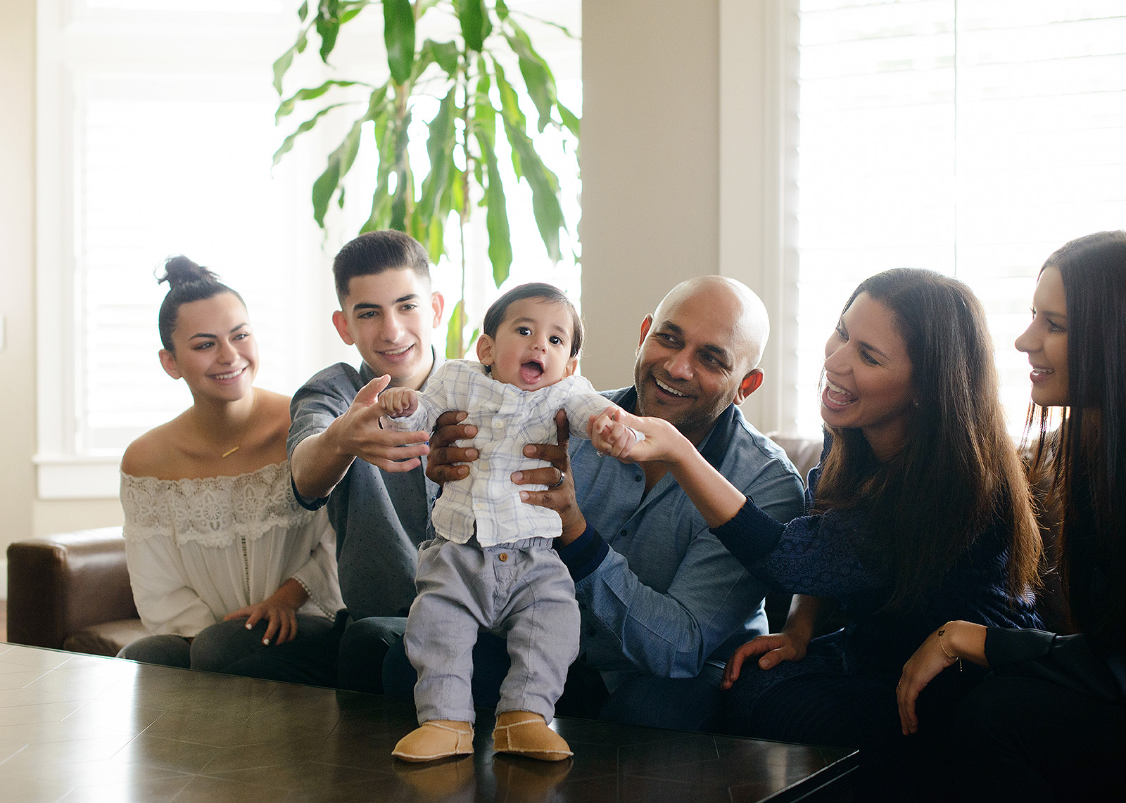 interior family photography using natural light in el dorado hills