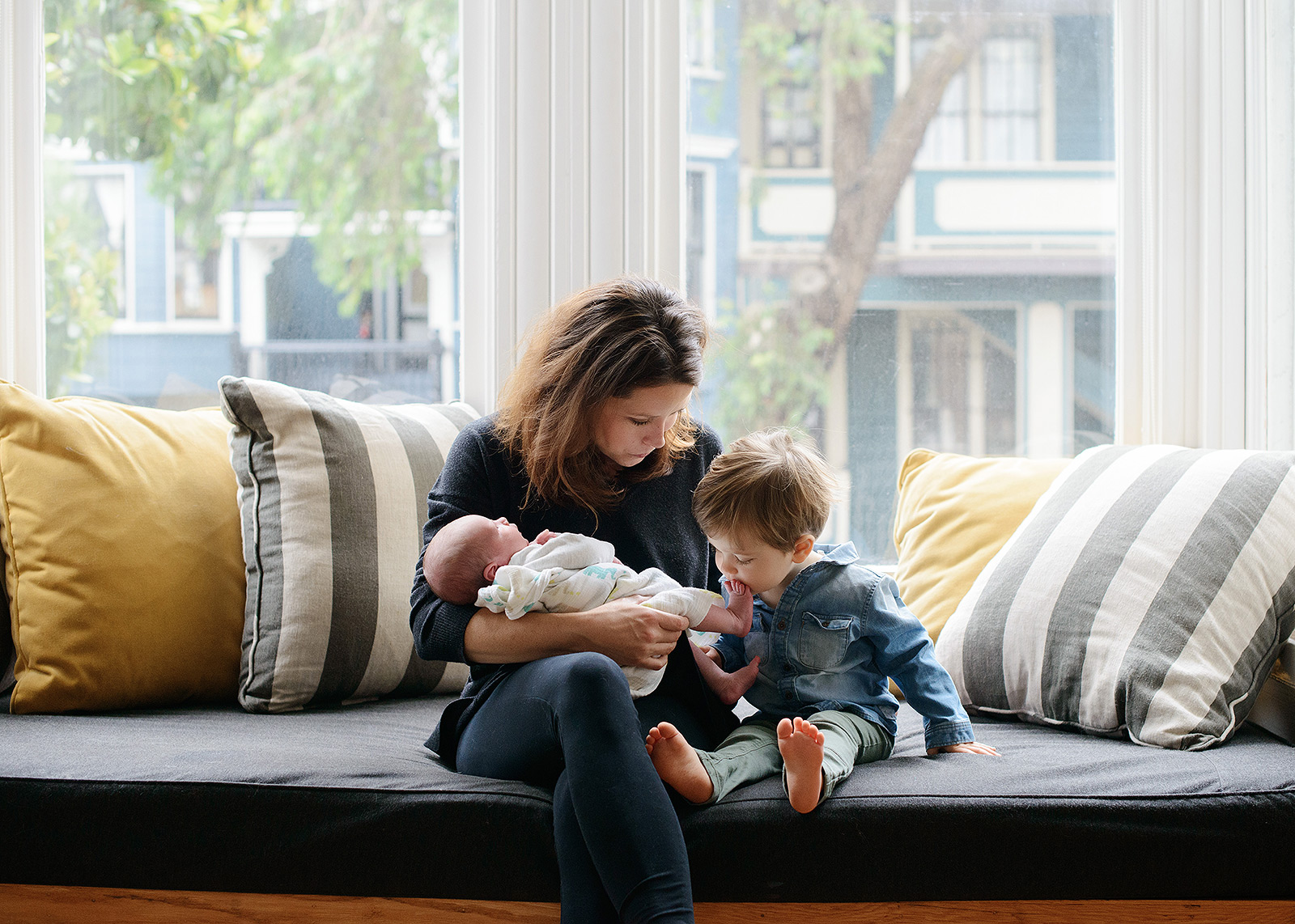 Big Brother Kisses New Baby Sibling's Foot in San Francisco Home