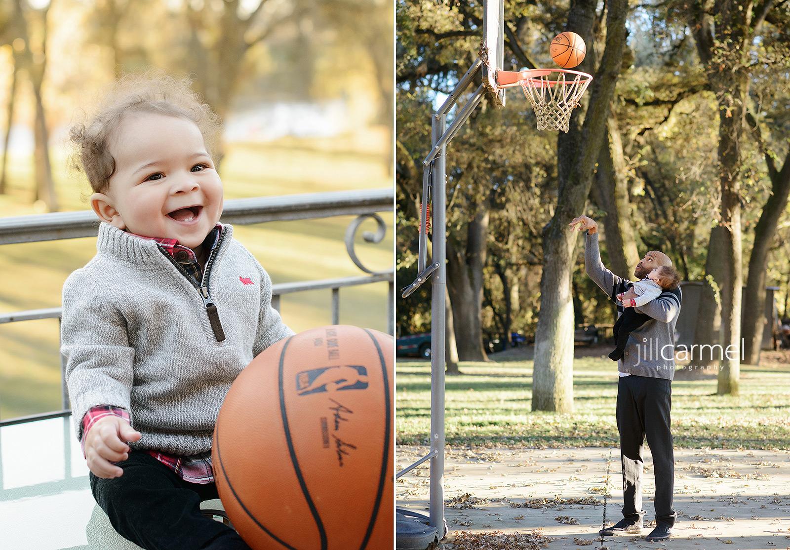 Vince Carter and Baby Boy Shooting Some Basketball