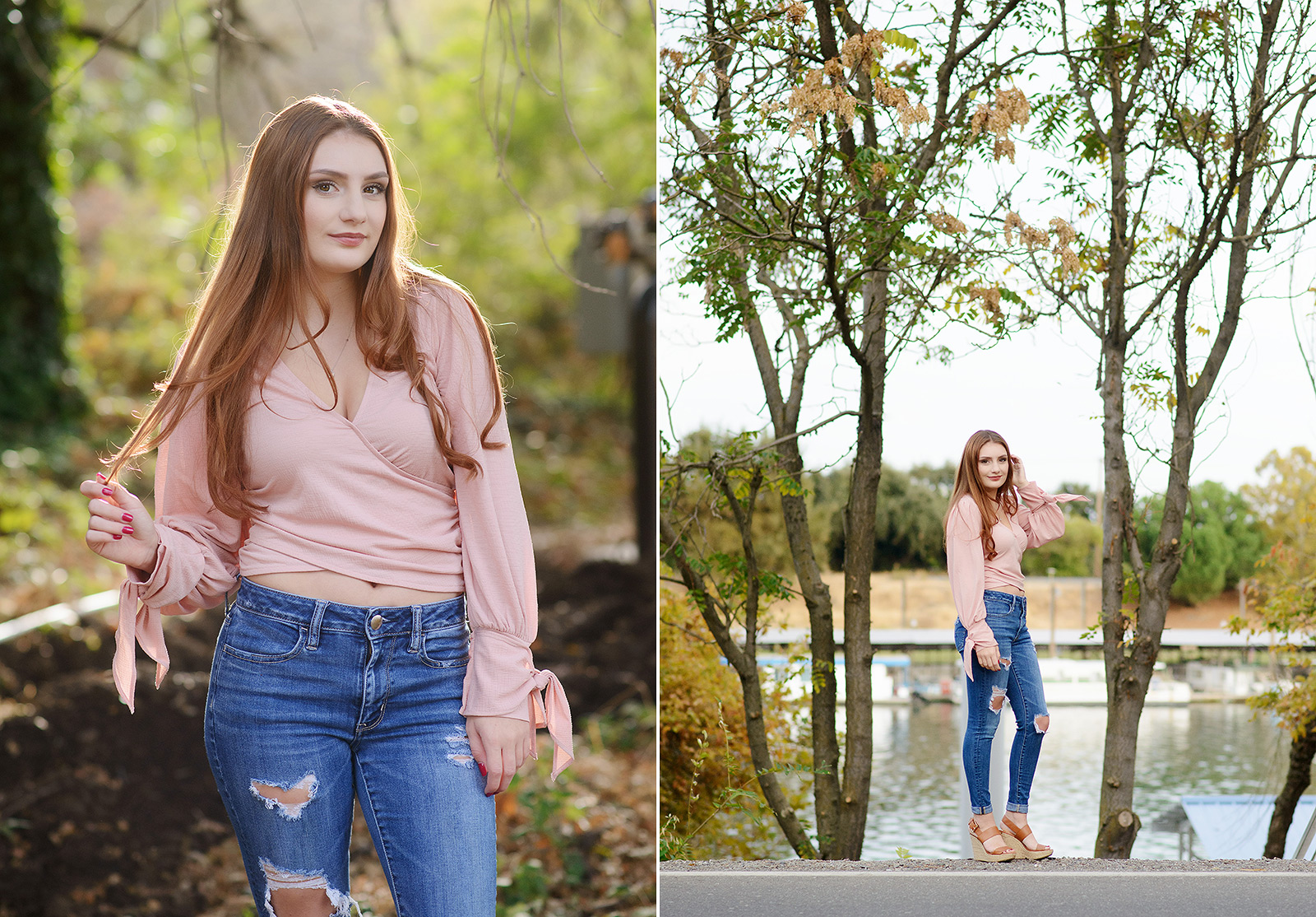 Senior Girl Portraits by Sacramento River