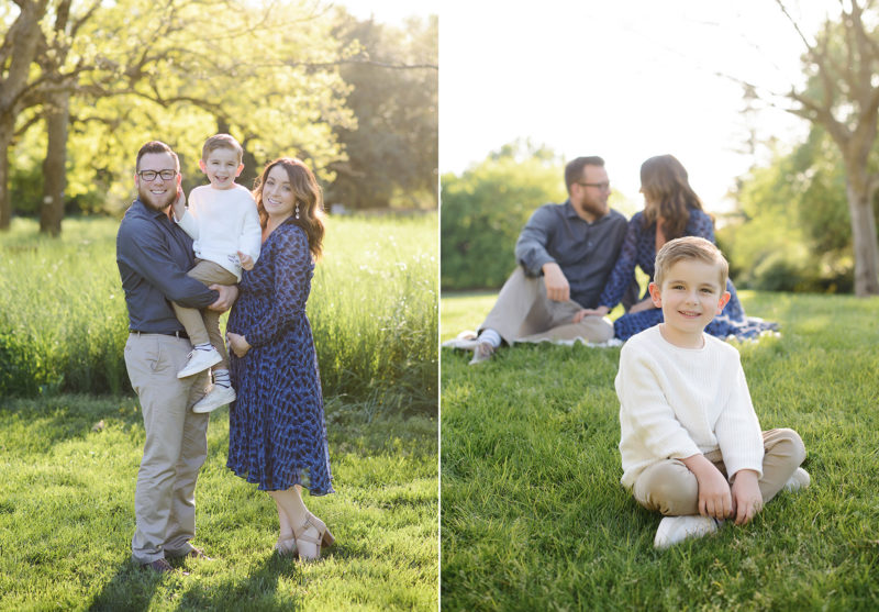 Family photos outdoors in natural light in Davis