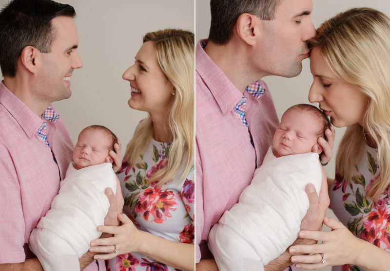 Family pictures in the Sacramento studio are an option with clean white backgrounds.