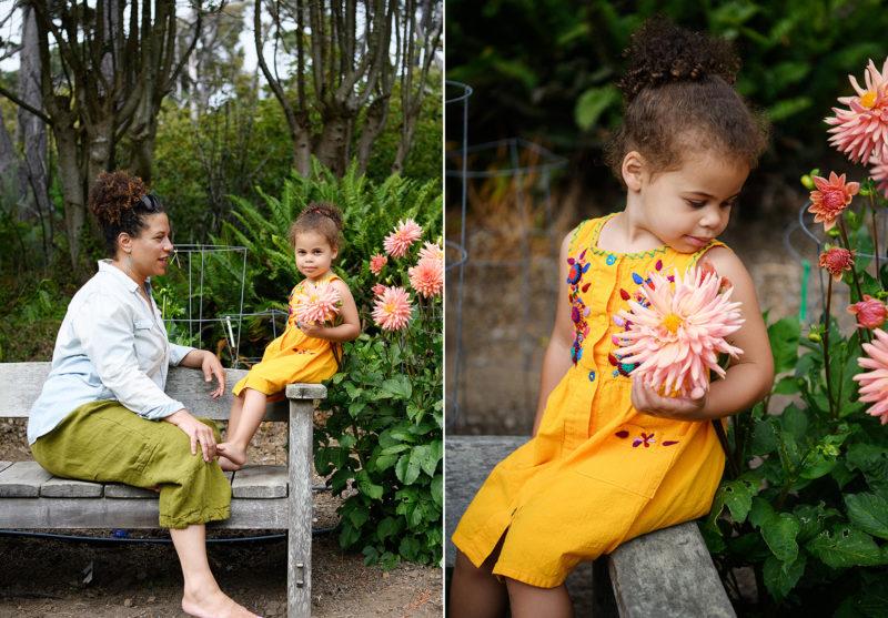 Mendocino Coast Botanical gardens family photography portraits