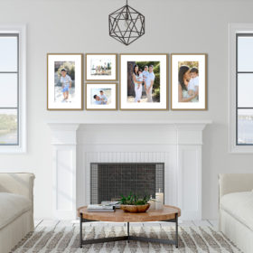 frame your photographs in a beautiful framed wall display