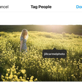 give your photographer credit by tagging them