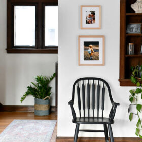 match the shape of your prints to the shape of your wall