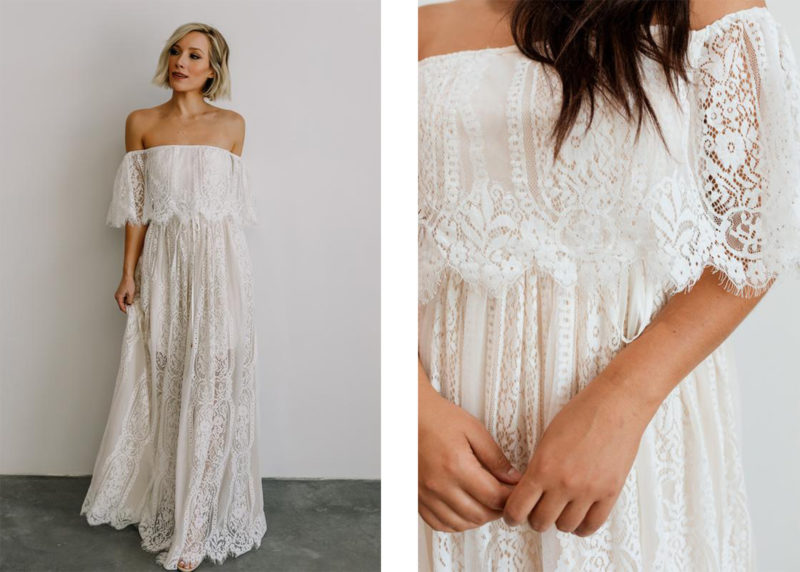 white lace maternity dress for sacramento photography pregnancy